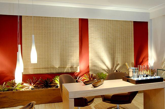 Cortina Romana em Bambu